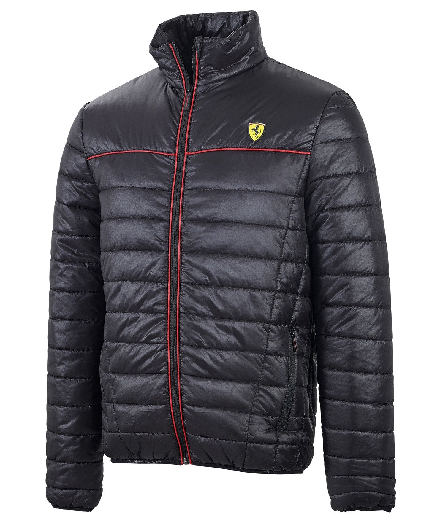 Kurtka Ferrari Padded Jacket Black Czarny Ferrari