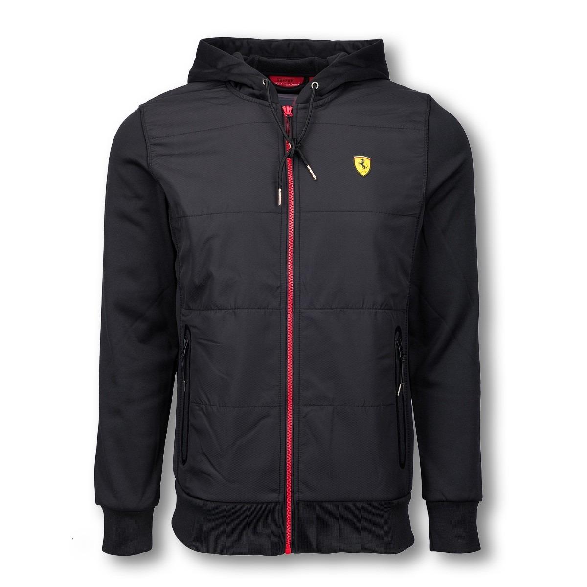 Mens Ferrari Sweatshirt Full Zip Fleece Ferrari