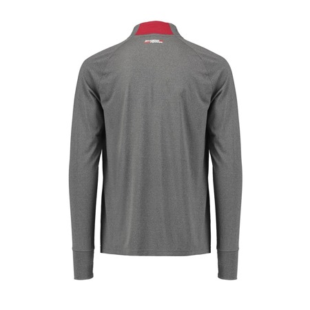 Scuderia Ferrari Long Sleeve Midlayer Zip Tee