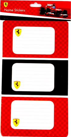 Ferrari Name Stickers