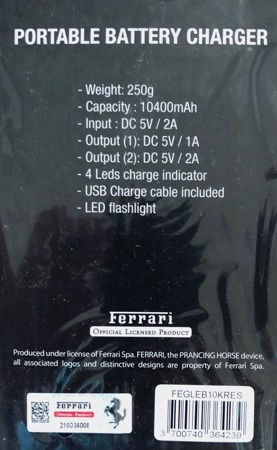 Ferrari Power Bank 10400 mAh