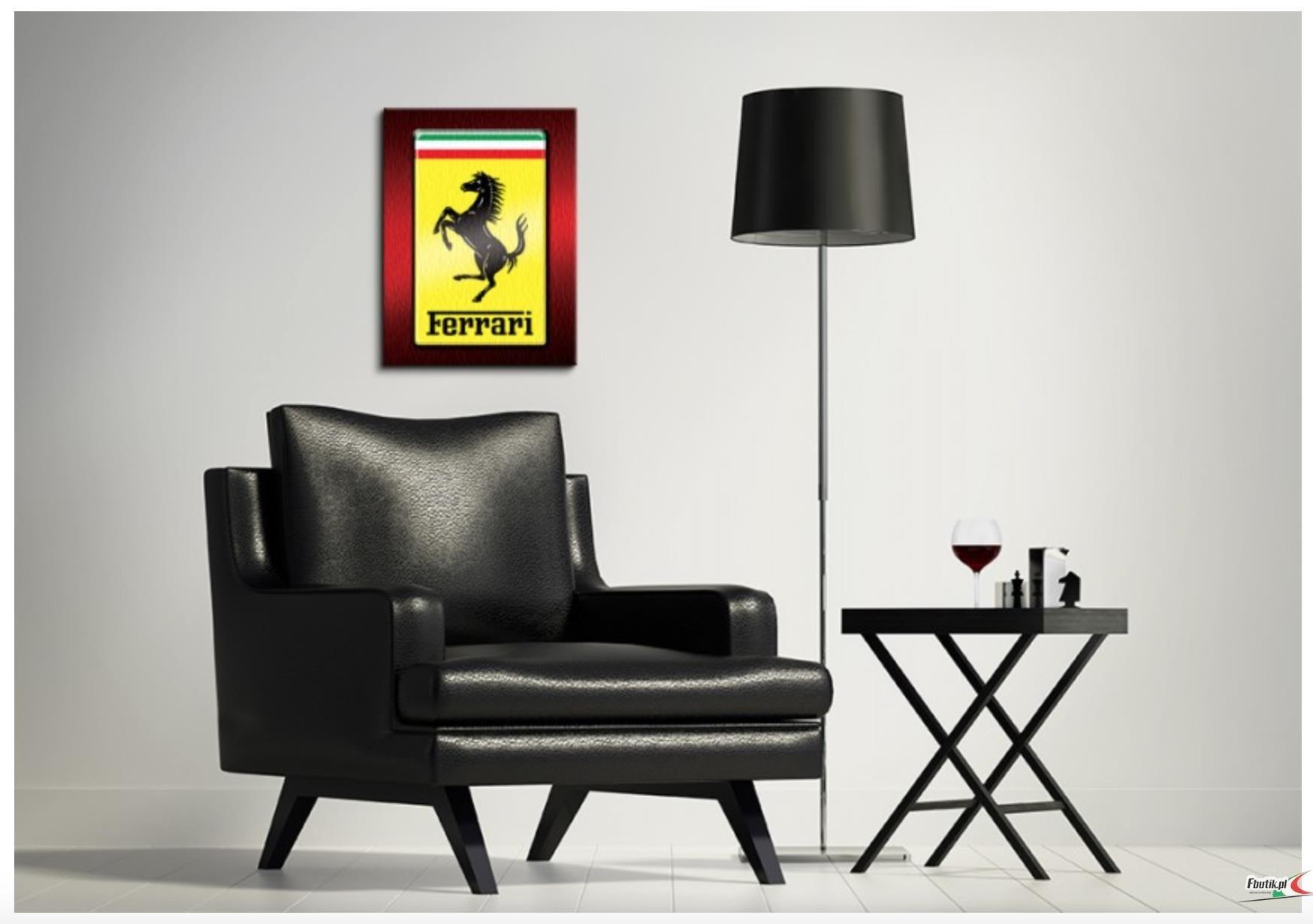 Ferrari obraz logo 30x40 sklep ferrari - Wandtattoo ferrari ...